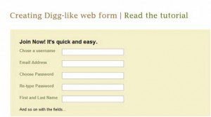 Digg Style Signup Form Using jQuery