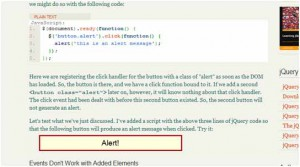 Working with jQuery Events