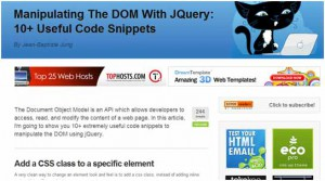 Operating the DOM through jQuery
