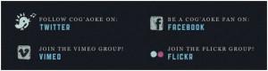 beautiful integration of social media links