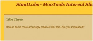 Mootools Content Slider With Intervals