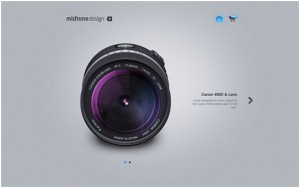 minimal and clean web layout