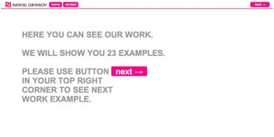 minimal web layout