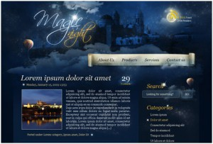 Magic Night Themed Web Design From Scratch in Photoshop