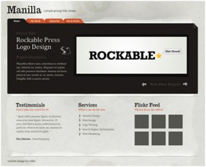 Photoshop Paper Texture from Scratch And Then Create a Grungy Web Design With It