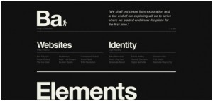 black and white websites