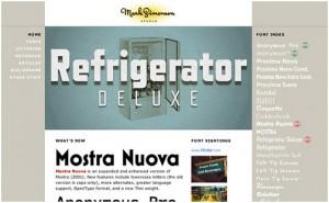 font driven website