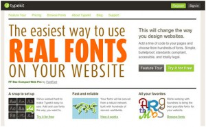 font driven website