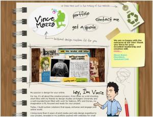 hand drawn web design