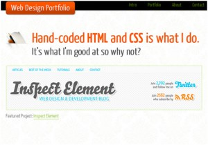 One Page Portfolio with HTML5 and CSS3