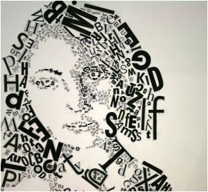 typographic portraits