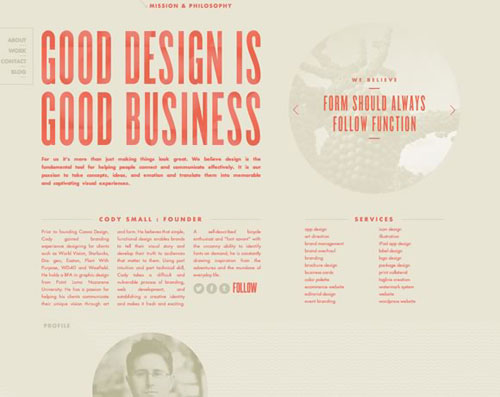 typography within web design