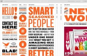 typography website