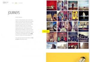 typographic website
