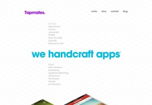 typographic website