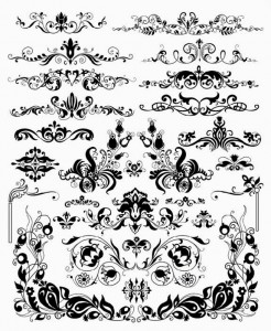 Free Vector Scroll Design Elements
