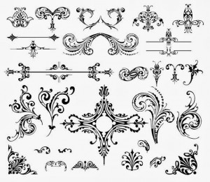 Vector Wedding Floral Lace Pattern