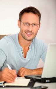 Man on Laptop, Virtual Desktop Houston TX