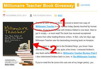EasyAzon links in Millionaire Teacher post