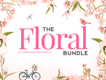 Massive Floral Bundle from The Hungry JPEG